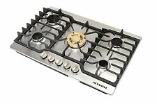 """METAWELL 30"""" Stainless Steel Gold Burner Built-in 5 Stoves Natural Gas Cooktops"""