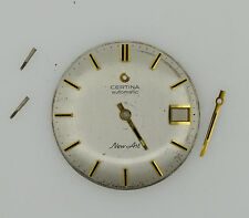 CERTINA New Art Cal. 25-651 Automatic Vintage Silver Watch Dial 29.3 mm (ZB228)