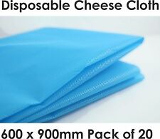 20 Disposable Cheese Cloth Butter Muslin Blue Synthetic Fabric Food Cookware