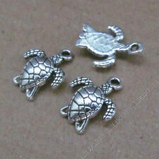 20pc Tibetan Silver Sea turtle Animal Pendant Charms Jewellery Accessories PJ625