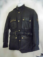"VINTAGE 80'S BELSTAFF TRIALMASTER PRO WAXED MOTORCYCLE JACKET SIZE 38"" 96cm"