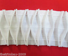** Quality Curtain Fabric Smocking (Diamond) Header Tape 10m Roll For £9.99 **