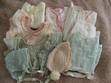 VINTAGE BABY CLOTHES LOT OF 9 FOR DOLL DRESS