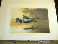 Flying the Jolly Roger F-4 Phantom USS Independence Aces Signed Aviation Art