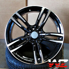 """19"""" Wheels fits BMW 5 6 Series M6 Sport Style 437 in Black Machined Rims"""