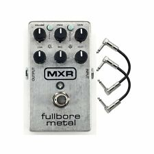 MXR M116 Fullbore Metal Distortion Guitar Effects Pedal w/ 2 Patch Cables