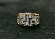 585 Russian Rose 14k Gold Delicate Greek Style Ring Size P-18 gift boxed