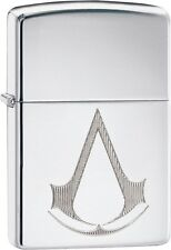 Zippo Assassins Creed Chronicles Franchise Logo High Polish Chrome 29486 **NEW**