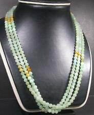 Icy Green Yellow 100% Natural A JADE JADEITE Bead Beads Necklace 279883