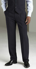 "SIMON JERSEY DARK NAVY BLUE PLEAT SUIT TROUSER 26"" SMART OFFICE CORPORATE MT0310"