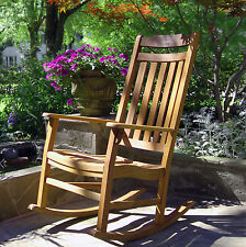 World's Finest Rocker - NEW Weatherproof Outdoor Rocking Chair Natural Stain