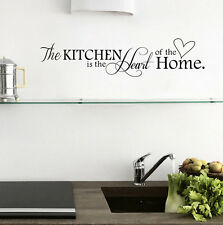 New Kitchen + Home Letter Heart Pattern PVC Removable Wall Sticker Home Decor