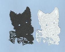 8 New Tattered Lace Scotty Dog Die Cuts White and Black