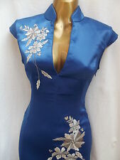 Oriental CHINESE Royal Blue FASHION dress 20