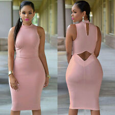 Womens Sleeveless Bodycon Bandage Sexy Women Party Dress Club Cocktail Dress