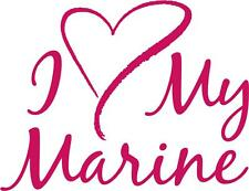 I Love my Marine sticker vinyl Decal Car Truck Window Marine Wife or Girlfriend
