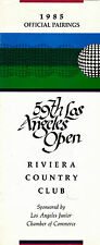 1985 LOS ANGELES OPEN OFFICIAL PAIRINGS PAMPLET - GOLF - RIVIERA COUNTRY CLUB