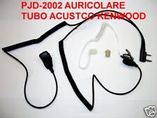 PJD-2002 PROXEL MICROFONO AURICOLARE PNEUMATICO TRASPARENTE KENWOOD BAOFENG TYT
