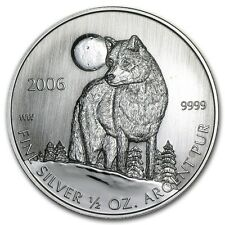 1/2 0,5 oz 999 Silver Coin Timber Wolf Timberwolf 2006 VERY Rare NEW rare