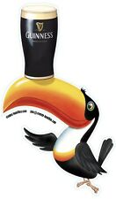 Guinness toucan contoured shaped vinyl sticker 160mm x 100mm Ireland Dublin