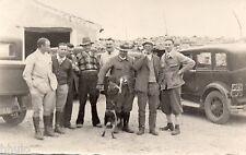 BL843 Carte Photo vintage card RPPC Voiture car groupe chien dog
