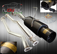 "01-05 HONDA CIVIC EX TURBO UPGRADE 3"" CATBACK EXHAUST + 4"" GUNMETAL CANISTER TIP"