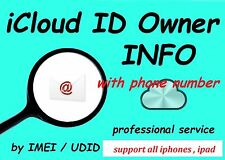 Find Apple ID, iCloud ID info By UDID + IMEI / Serial  24 Hrs Very Fast Official