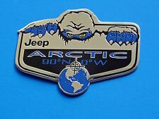 ONE YETI JEEP CHEROKEE WRANGLER LIBERTY ARCTIC FENDER EMBLEM DECAL SPECIAL NEW