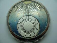 Tildy Brevet Höchst seltene alte Digital Herren Taschenuhr aus 800 Silber