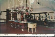 OCHRE POINT NEWPORT RI POST CARD *THE BREAKERS KITCHEN *VANDERBILT *RHODE ISLAND