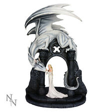 Nemesis Now Gwyneth's Overseer Dragon Figurine Gothic Fairy Ornament Statue 45cm