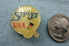DISNEY LAPEL PIN MAIN STREET U.S.A. MICKEY MOUSE ON OLD TYME BICYCLE