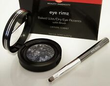 Laura Geller CRYSTAL COBALT Eye Rimz Baked Wet/Dry Accents Shadow/Liner w/Brush