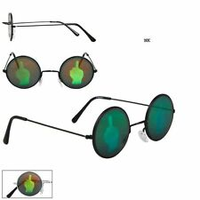 MIDDLE FINGER Hologram Sunglasses Poker Glasses Novelty Texas Holdem John Lennon