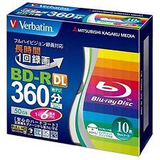 10pack Verbatim BD-R DL 6x Blu-ray 50GB BD R Repacked Japan Import