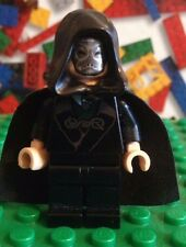LEGO Harry Potter Lucius Malfoy Death Eater Minifigure 4867 with hood rare
