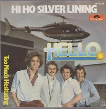"7"" Hello Hi Ho Silver Lining / Too Much Hesitating 70`s Polydor (Glam)"