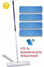 Microfiber Mop with FOUR(4) Microfiber Pads Best Value