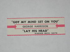 x1 George Harrison Jukebox Title Strip Got My Mind Set On You & Lay His Head