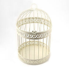 Classic Round Decorative Birdcage in Ivory Wedding Wishing Well