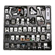 42 PCS Domestic Sewing Machine Foot Feet Snap On For Brother Singer Set