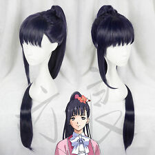 Kabaneri of the Iron Fortress Yomogawa Ayame Dark Blue Ponytail Cosplay Full Wig