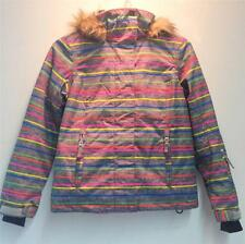 Roxy Junior Jet Ski Insulated Snowboard Winter Jacket Multi Color Girls 12 NEW