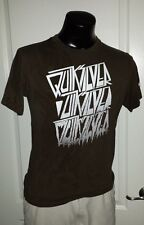 Quiksilver The Ride Can Last Forever Skateboad Surfing Beach Brown T-Shirt Large