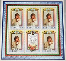 LESOTHO 1982 Klb 400-01 MS 379-80 Birth William Prince of Wales Royal Baby MNH