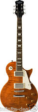 New Oscar Schmidt OE20QTE LP-Style Solid Body Electric Guitar Quilt Top OE20