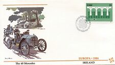 FIRST DAY COVER / 1° JOUR EUROPA / VOITURE / IRLANDE / THE 60 MERCEDES