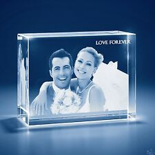 Christmas 3D Laser Crystal Personalized Engrave Gift 3X-Large Brick Shape