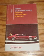 Original 1966 Oldsmobile Toronado Owners Operators Manual 66