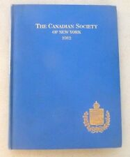 CANADA THE CANADIAN SOCIETY OF NEW YORK 1912 FREE HEALTH CARE IN A HOSPITAL